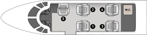 Select the desired spot by clicking on the appropriate seat in the plane picture.